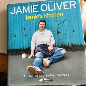 Jamie Oliver colorful recipe book